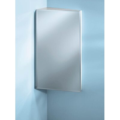 "Specialty 16"" x 36"" Corner Mount Beveled Edge Medicine Cabinet Product Photo"