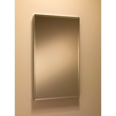 "Basic S-Cube 16"" x 26"" Recessed Beveled Edge Medicine Cabinet Product Photo"