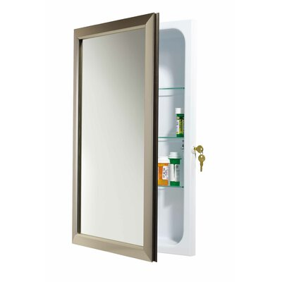 "Jensen 15 75"" x 25 5"" Recessed Medicine Cabinet & Reviews"