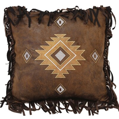 Old West Stripe Old West Diamonds Throw Pillow by Carstens Inc.