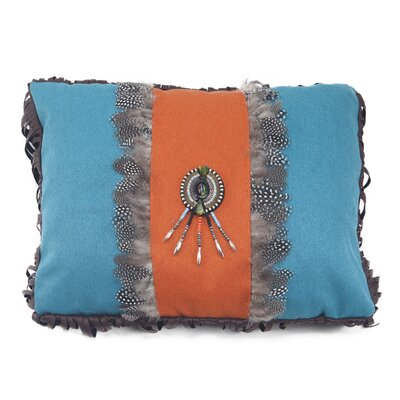 Mojave Sunset Feather Medallion Lumbar Pillow by Carstens Inc.