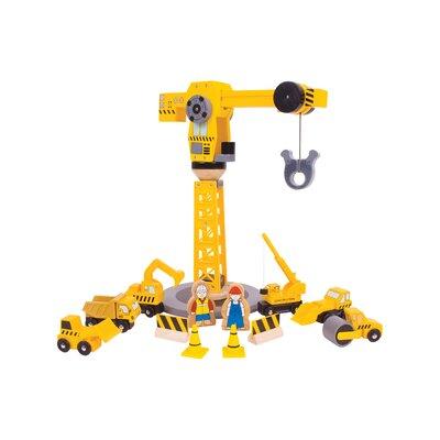 Big Crane Construction Play Set by BigJigs Toys