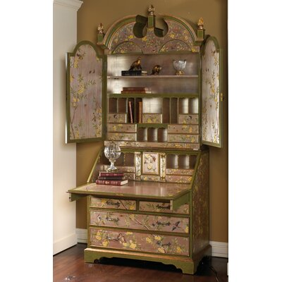 bird and floral secretary armoire desk wayfair. Black Bedroom Furniture Sets. Home Design Ideas