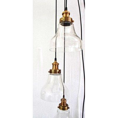 Rowan 5 Light Cascade Pendant by Gild