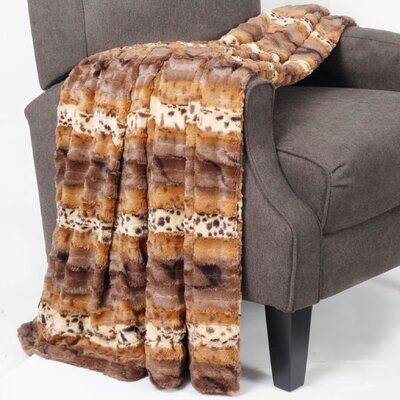 Wolf Double Sided Faux Fur Throw Blanket by BOON Throw & Blanket