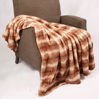 Natural Animal Faux Fur Throw Blanket by BOON Throw & Blanket