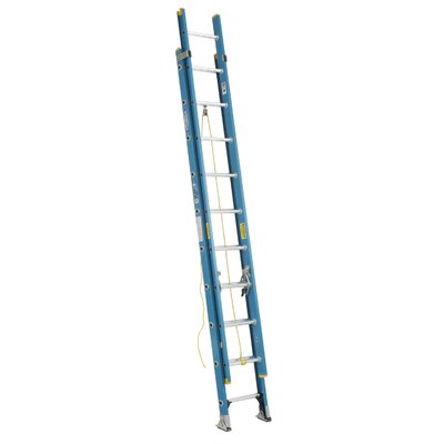 Werner 24 ft Fiberglass Extension Ladder with 250 lb. Load Capacity