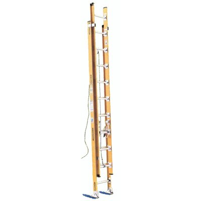 Werner 24 ft Aluminum Extension Ladder with 200 lb. Load Capacity