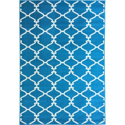 Clifton Moroccan Trellis Blue Area Rug by sweet home stores