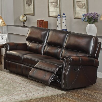 Nevada Leather Recliner by Amax