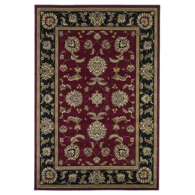 Cambridge Red / Black Area Rug by KAS Rugs