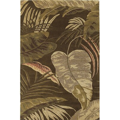 KAS Rugs Havana Mocha Rainforest Floral Area Rug