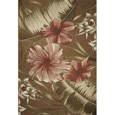 Horizon Sage Green Hibiscus Indoor/Outdoor Area Rug by KAS Rugs