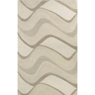 Eternity Ivory Waves Area Rug by KAS Rugs