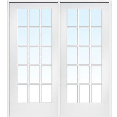 15 lite prehung interior french double door wayfair for 15 lite french door interior