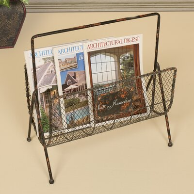 Rhino Magazine Rack Distressed Wire Magazine Rack