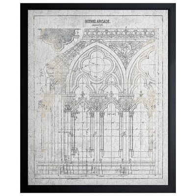 'Gothic Arcade Vintage' Framed Wall Art by The Art Cabinet