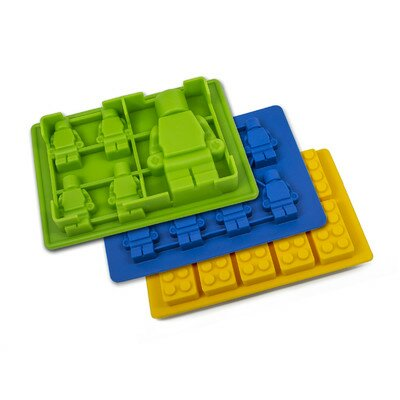 3 Piece Non-Stick Robot and Building Blocks Silicone Mold Set by BargainRollback