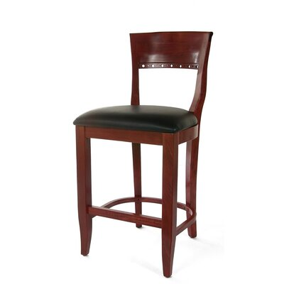 "Benkel Seating Biedermier 24"" Bar Stool with Cushion"