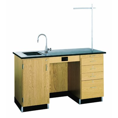 Diversified Woodcrafts 5' Wide Instructor's Desk