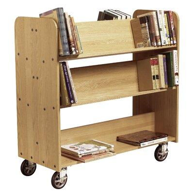 Diversified Woodcrafts Mobile Series Sloped-Shelf Book Cart