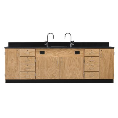 Diversified Woodcrafts Wall Service Bench With Door and 8 Drawers