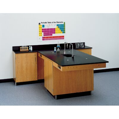 Diversified Woodcrafts Perimeter Workstation With Door And Sink and Fixtures