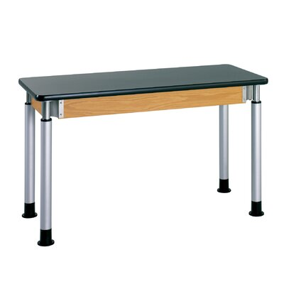 Diversified Woodcrafts Adjustable Height Science Table With Phenolic Resin Top