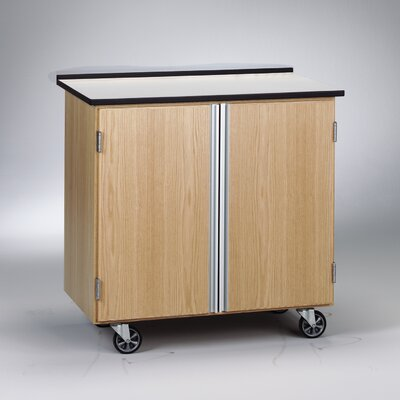 Diversified Woodcrafts Write-N-Roll Mobile Storage Cabinet