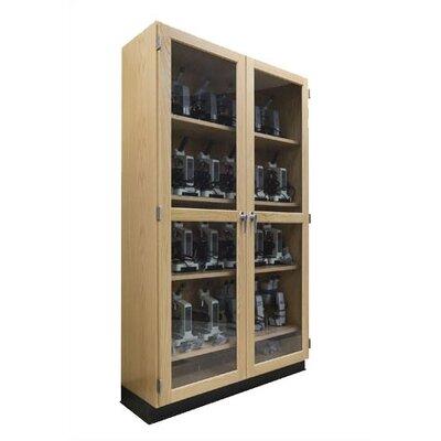 Diversified Woodcrafts Mobile Series 2 Tier 2 Wide Microscope Storage Locker