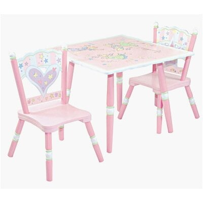 Fairy Wishes Kids' 3 Piece Table and Chair Set by Levels of Discovery