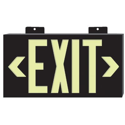 Jessup Glo Brite® Eco Plastic Molded Exit Signs - glo brite eco plastic molded exit sign rd frame
