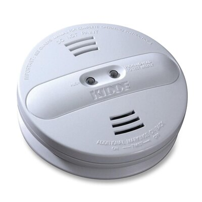 Kidde Smoke Alarm, Photo/Ion, Dual Sensor, Batt Opr, White
