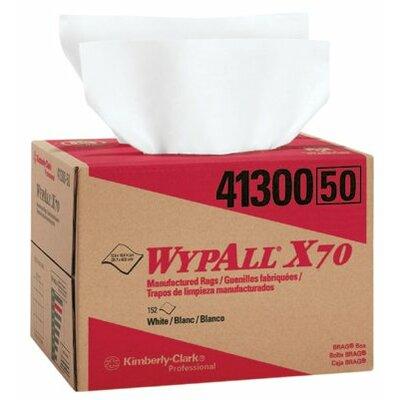 "Kimberly-Clark WypAll® X70 Workhorse® Rags - 12""x16.75"" white workhorse 1-ply rag 150/box"
