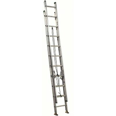 Louisville Ladder 24 ft Aluminum Commercial Extension Ladder with 225 lb. Load Capacity