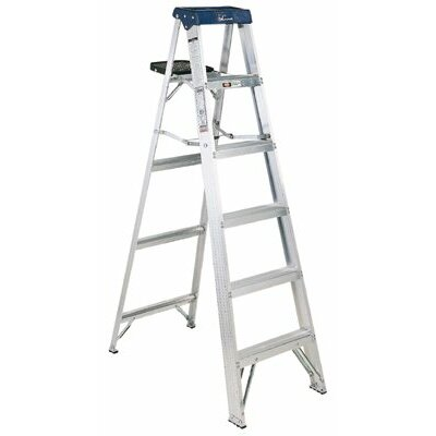 Louisville Ladder 5 ft Aluminum Sentry Step Ladder with 250 lb. Load Capacity