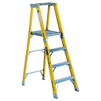 Louisville Ladder 6 ft Fiberglass Step Ladder with 375 lb. Load Capacity