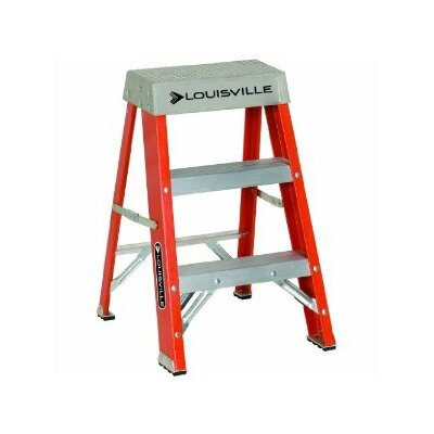 Louisville Ladder 3-Step Fiberglass Step Stool with 300 lb. Load Capacity