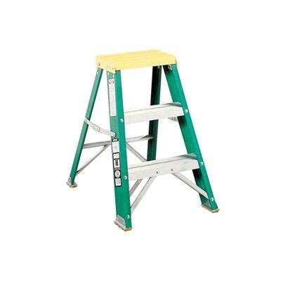 Louisville Ladder 3-Step Fiberglass Step Stool with 225 lb. Load Capacity