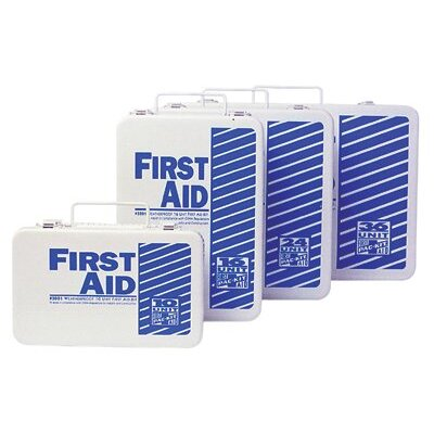 Pac-Kit 10 Unit Steel First Aid Kits - steel 10 unit unitized first aid kit standard fi
