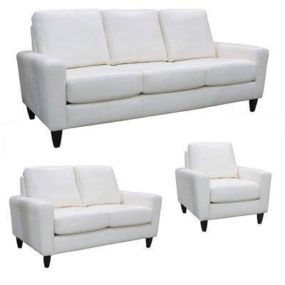 Atlanta Top Grain Leather Sofa, Loveseat and Chair Set by Coja