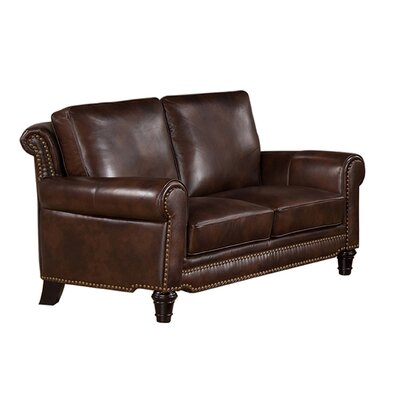 Macy Leather Loveseat by Coja
