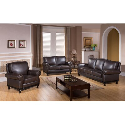 Rialto Top Grain Leather Sofa, Loveseat and Chair Set by Coja
