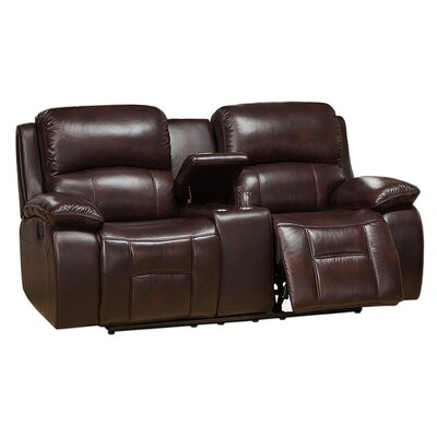 Jersey Leather Reclining Loveseat by Coja