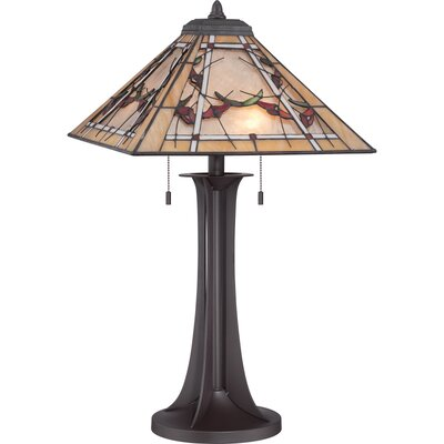 """Quoizel Tiffany Monteclaire 25.5"""" H Table Lamp with Empire Shade"""