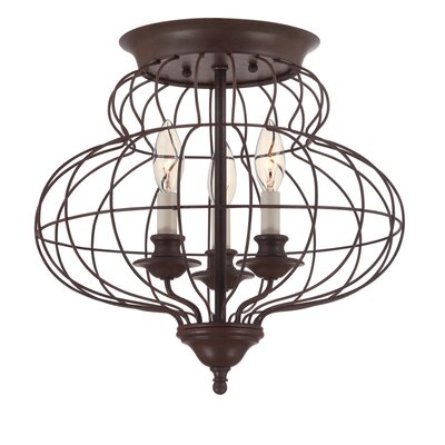 Laila 3 Light Flush Mount Product Photo