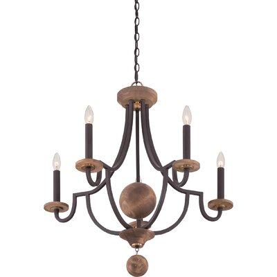 Wyndmoor 5 Light Candle Chandelier by Quoizel