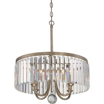 Mirage 4 Light Pendant by Quoizel
