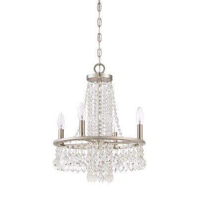 Majestic 4 Light Crystal Chandelier by Quoizel