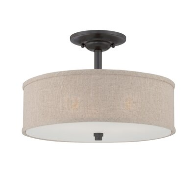Cloverdale 3 Light Semi-Flush Mount Product Photo